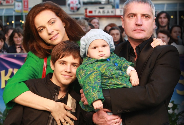 Екатерина Гусева с семьей
