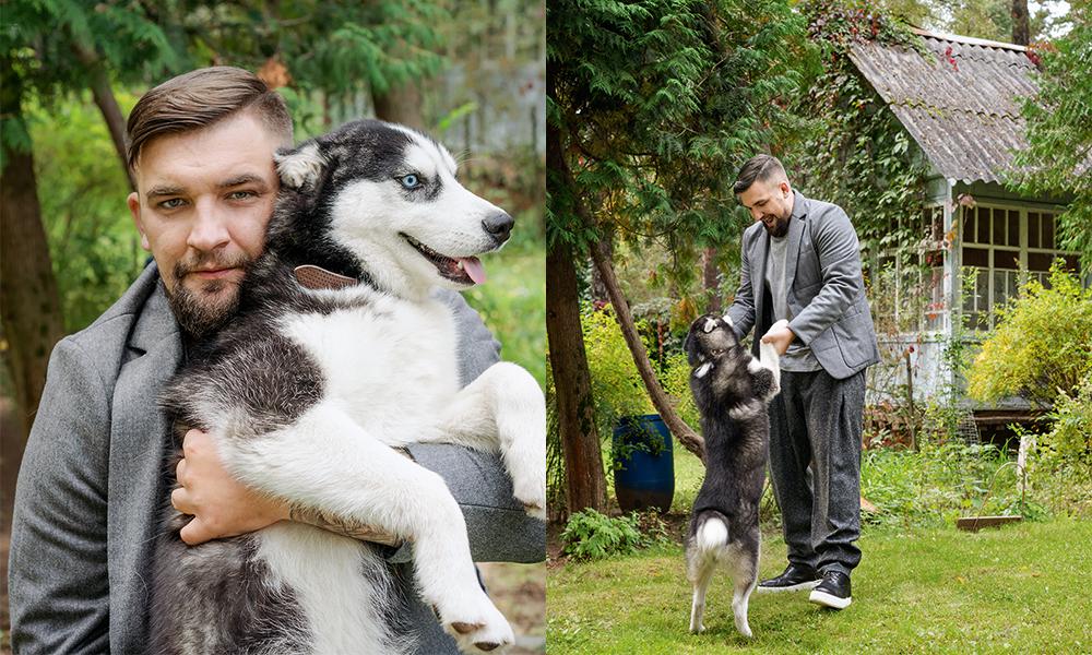Баста с собакой