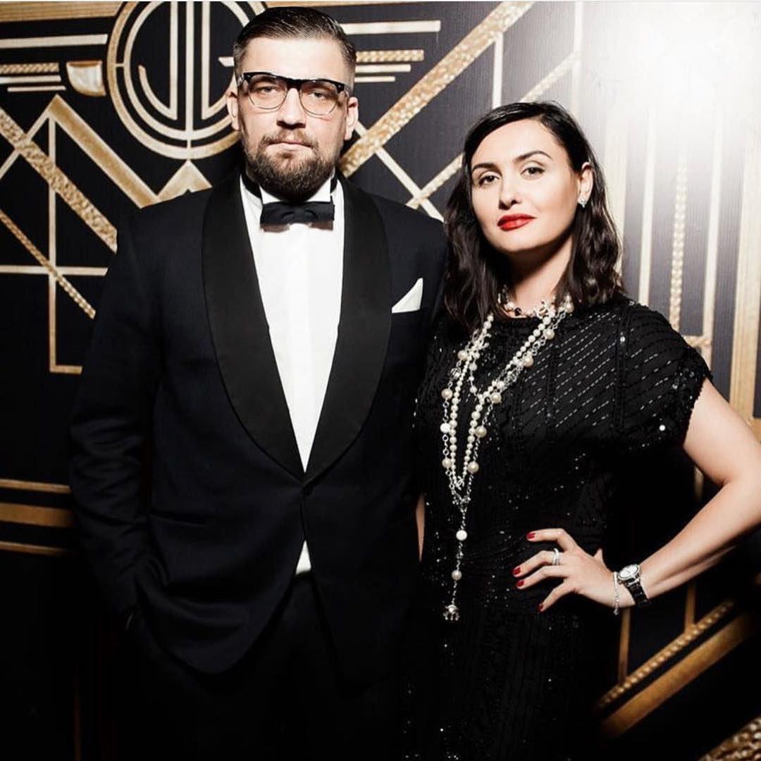 Баста с женой Еленой Пинской