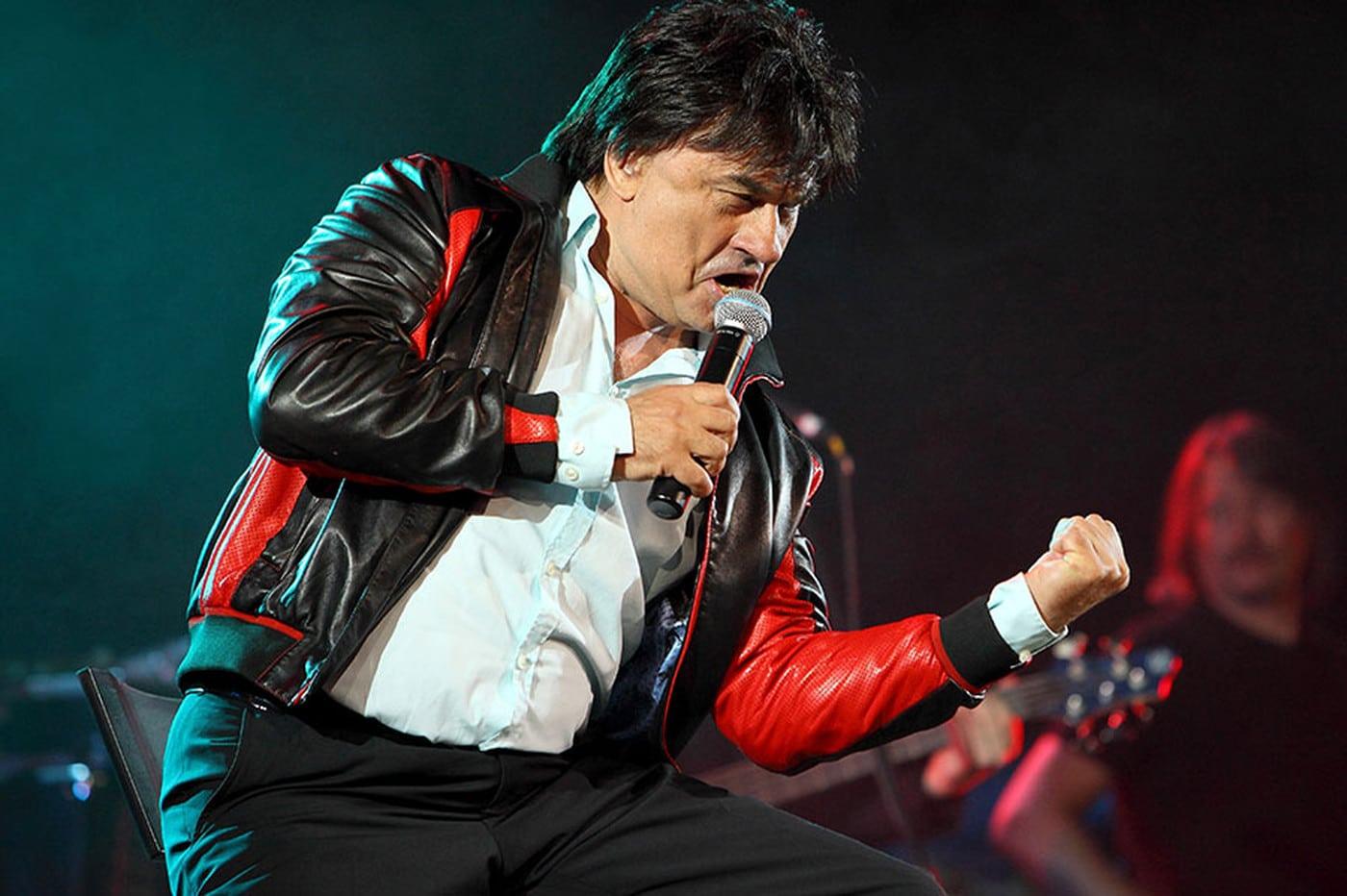 Александр Серов во время выступления на концерте