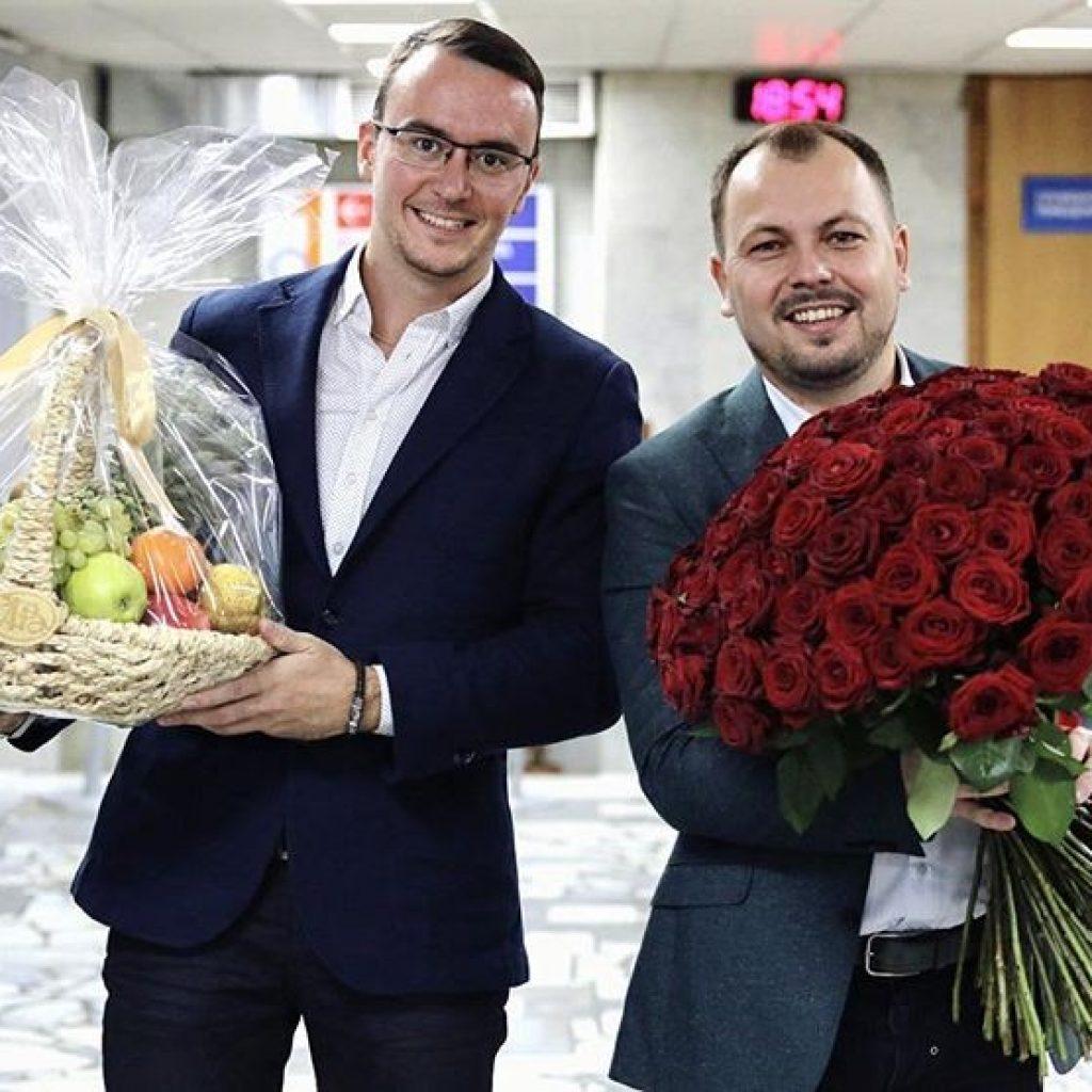 Ярослав Сумишевский с директором Александром Чебановым